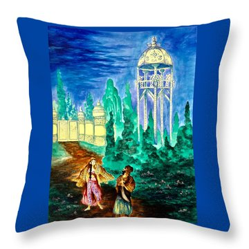 The Garden Of Pictures Throw Pillow