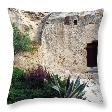 The Garden Tomb Throw Pillow