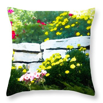 The Garden Wall Throw Pillow