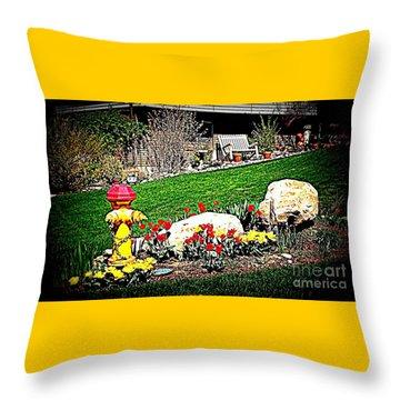 The Gardener Throw Pillow