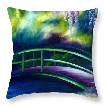 The Gardens Of Givernia Throw Pillow
