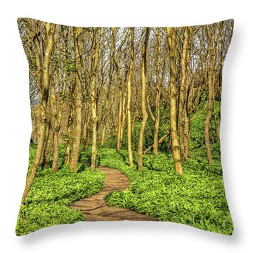 The Garlic Forest Throw Pillow by Roy McPeak