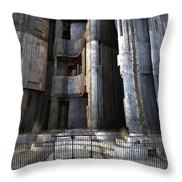 The Garment District Project Throw Pillow