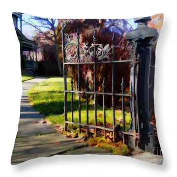 Throw Pillow featuring the photograph The Gate by Betsy Zimmerli