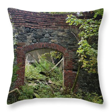 The Gate Into Nothingness Throw Pillow