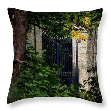 Throw Pillow featuring the photograph The Gate by Jeremy Lavender Photography