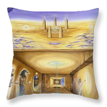 The Gate Keeper Throw Pillow by Teresa Gostanza