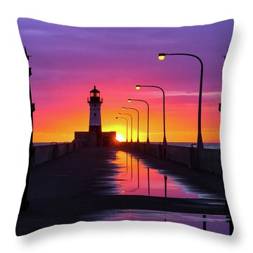 Throw Pillow featuring the photograph The Gates Of Dawn by Mary Amerman