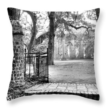 The Gates Of The Old Sheldon Church Throw Pillow