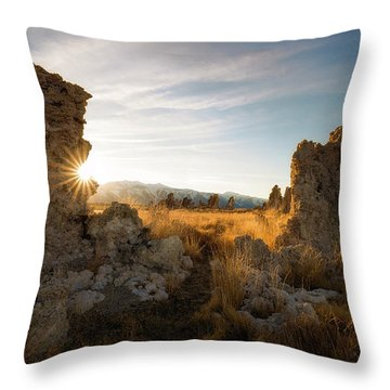 The Gateway Throw Pillow by Bjorn Burton