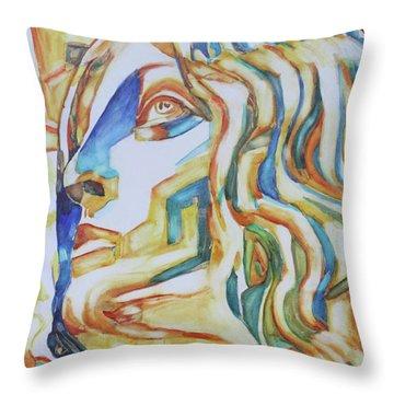 The Gaze - Inspired By Tullio Lombardo, 1460-1532 Throw Pillow