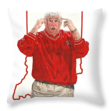 The General Bob Knight Throw Pillow