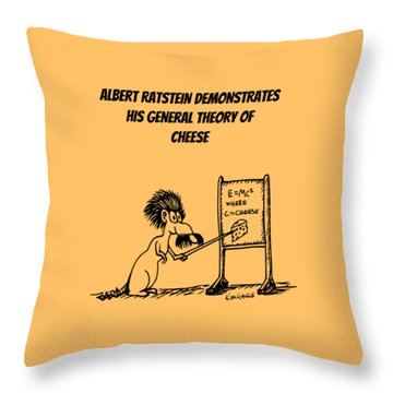 The General Theory Of Cheese Throw Pillow