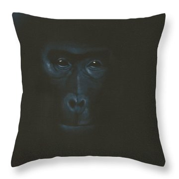 Throw Pillow featuring the painting The Gentle Giant by Annemeet Hasidi- van der Leij