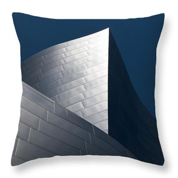 Throw Pillow featuring the photograph The Geometry Of Disney Hall by Lorraine Devon Wilke