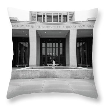 The George W. Bush Presidential Library And Museum  Throw Pillow by Robert Bellomy