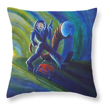 The Getaway Throw Pillow by Chris Benice