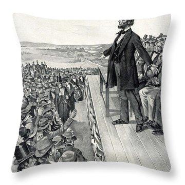 The Gettysburg Address Throw Pillow