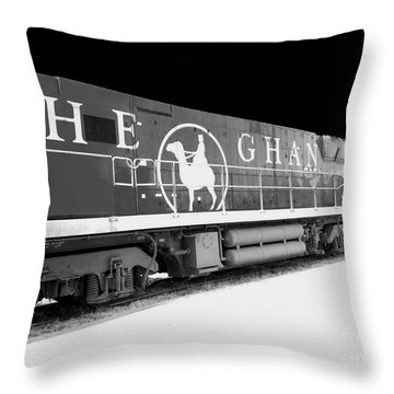 The Ghan Bw Throw Pillow