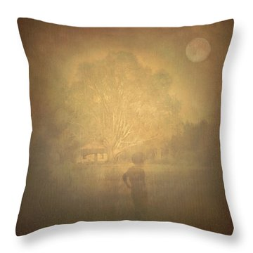 The Ghost Turns Away Throw Pillow