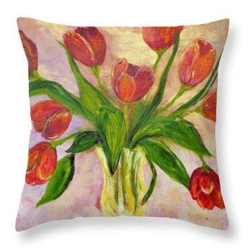 The Gift Throw Pillow by Diane Arlitt