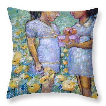The Gift Throw Pillow by Eleatta Diver