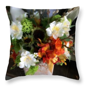 The Gift Of Giving Throw Pillow by Peggy Stokes