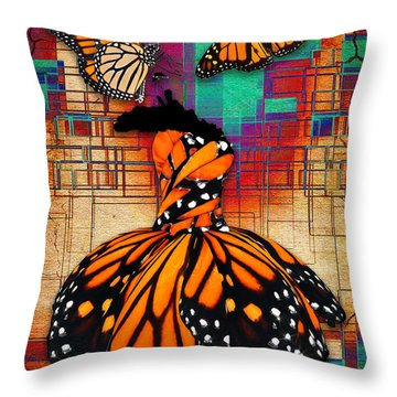 Throw Pillow featuring the mixed media The Gift Of Life by Marvin Blaine