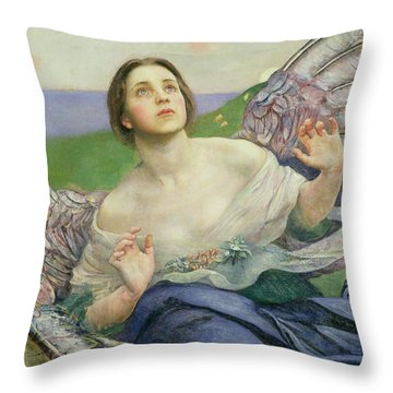 The Gift Of Sight Throw Pillow by Annie Louisa Swynnerton