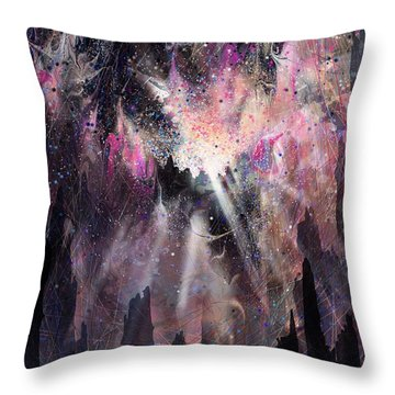 The Gift Throw Pillow by Rachel Christine Nowicki
