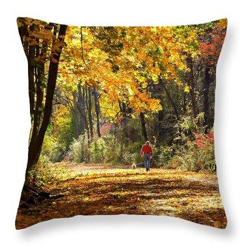 The Gilding Throw Pillow