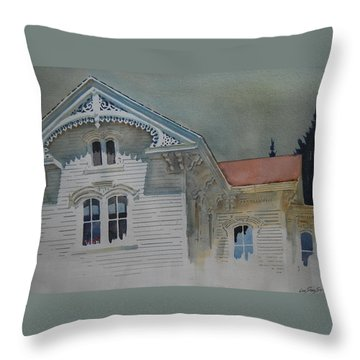 the Ginger Bread House Throw Pillow
