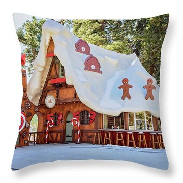 Throw Pillow featuring the photograph The Gingerbread House by Eddie Yerkish