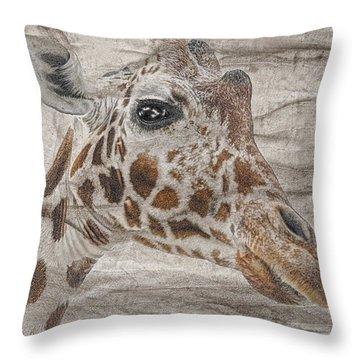 Throw Pillow featuring the photograph The Giraffe  by Dyle   Warren