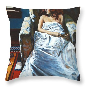 The Girl In The Chair Throw Pillow