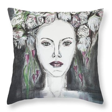 The Girl Out There Throw Pillow
