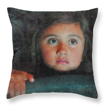 Throw Pillow featuring the photograph The Girl With The Chocolate Eyes by Kate Word