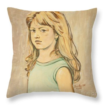 The Girl With The Golden Hair Throw Pillow