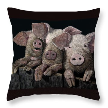 The Girls Throw Pillow by Linda Hiller