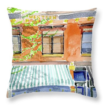 The Girls On Phillips Throw Pillow