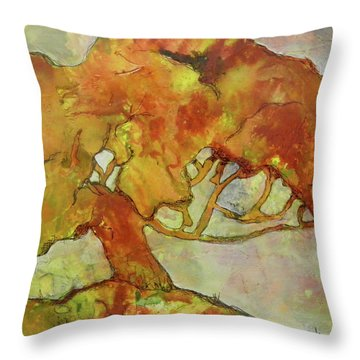 The Giving Tree Throw Pillow by Terry Honstead