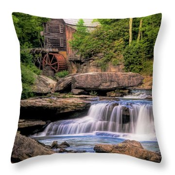 The Glade Creek Mill Throw Pillow