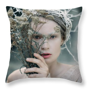 The Glance. Prickle Tenderness Throw Pillow
