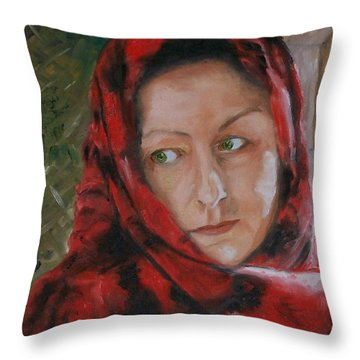 The Glance Throw Pillow