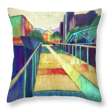 The Glass Bridge Throw Pillow