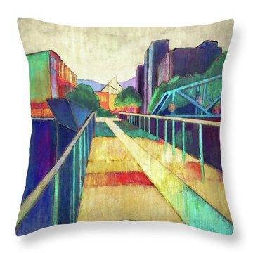 The Glass Bridge Throw Pillow