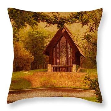 The Glass Chapel At Powell Gardens - Kansas City, Missouri Throw Pillow