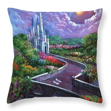 The Glass Slippers Throw Pillow