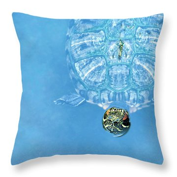 The Glass Turtle Throw Pillow