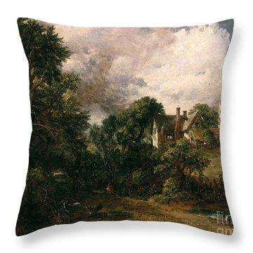 The Glebe Farm Throw Pillow by John Constable